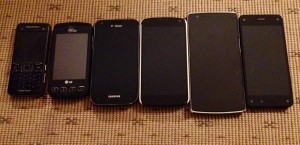 My Phones over the years.